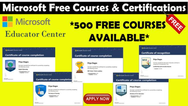Microsoft free courses