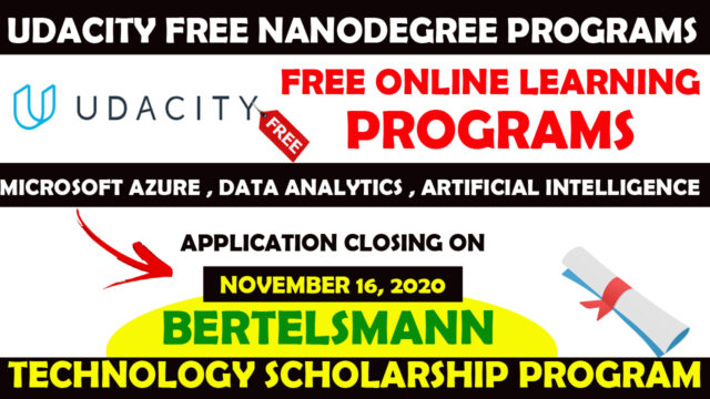 UDACITY FREE NANODEGREE PROGRAM