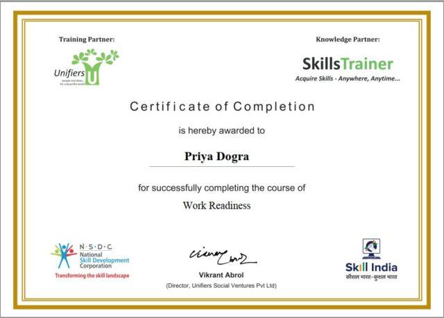 NSDC Free Courses