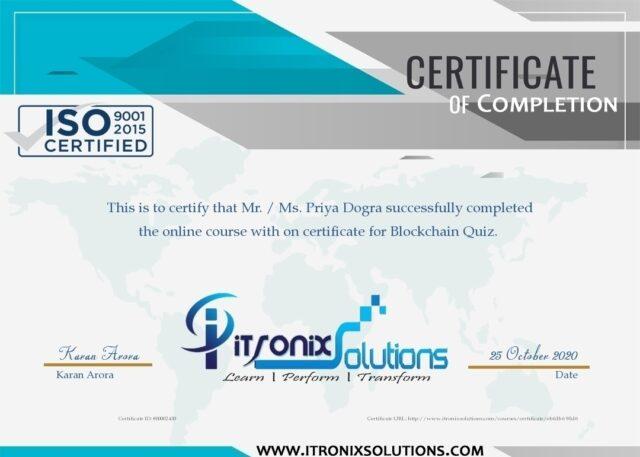 blockchain free certificate