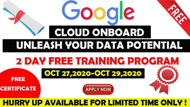 google free certification courses