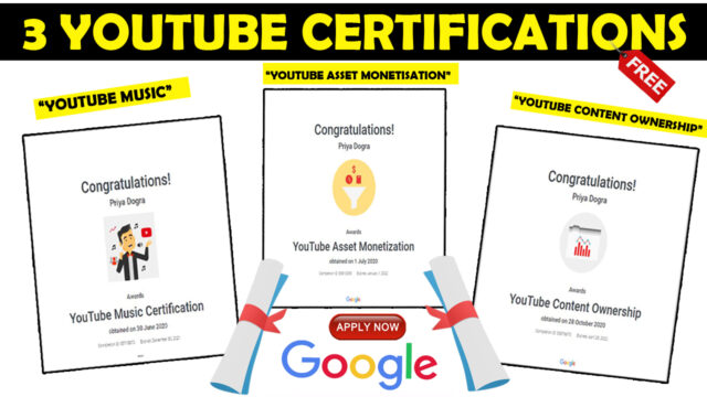 youtube certifications