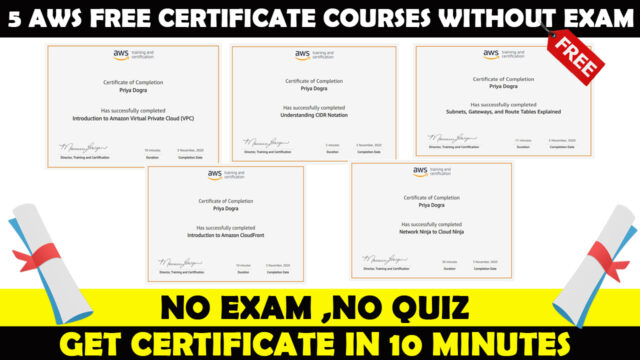 Amazon AWS Free Certifications Courses