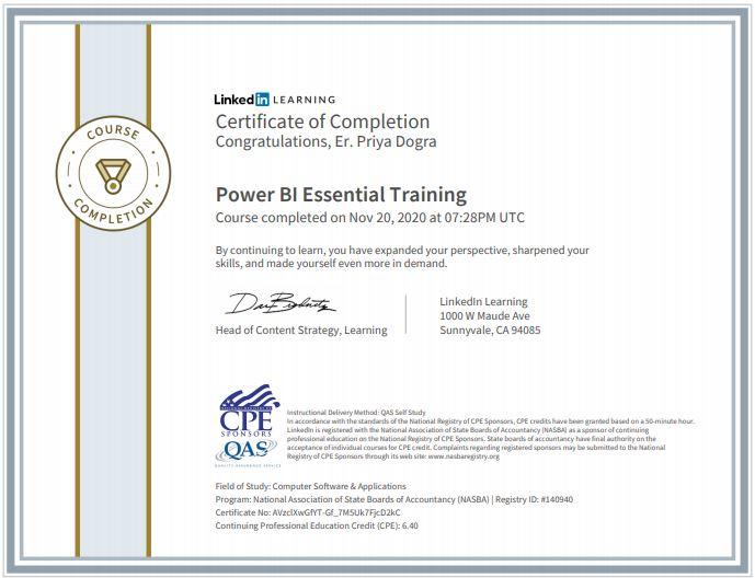 Power Bi Essential Training Linkedin Learning Quiz Exam Answers