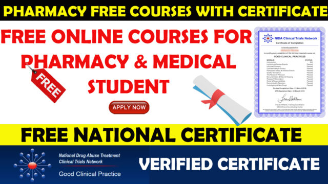 pharmacy free course