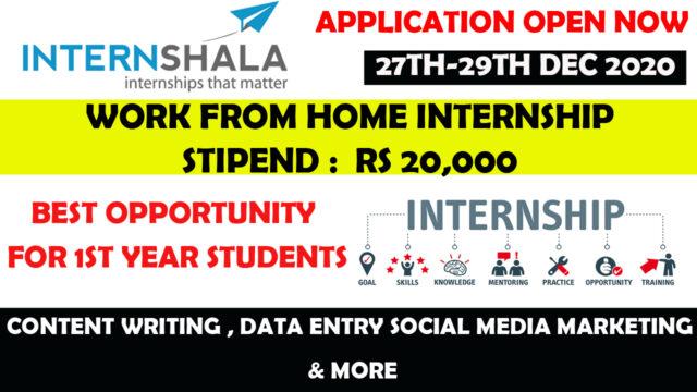 internshala ist year internship