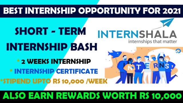 internshsla short term internships