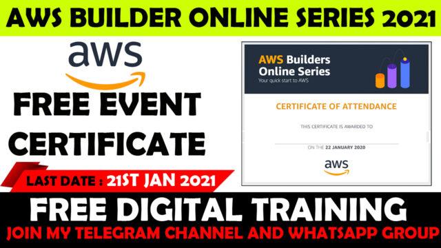 amazon builder online series certificate