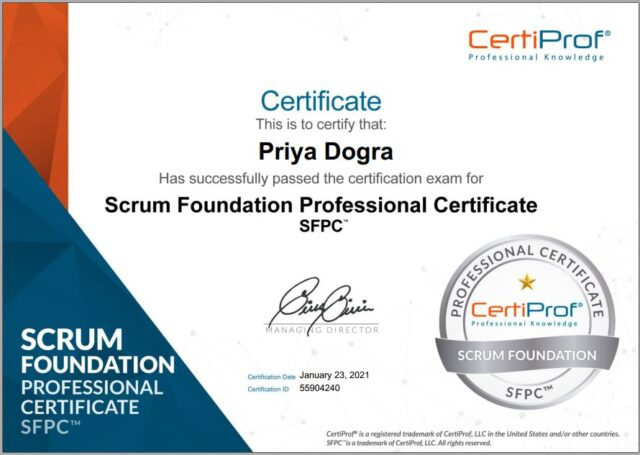 Certiprof Scrum Free Certification answers