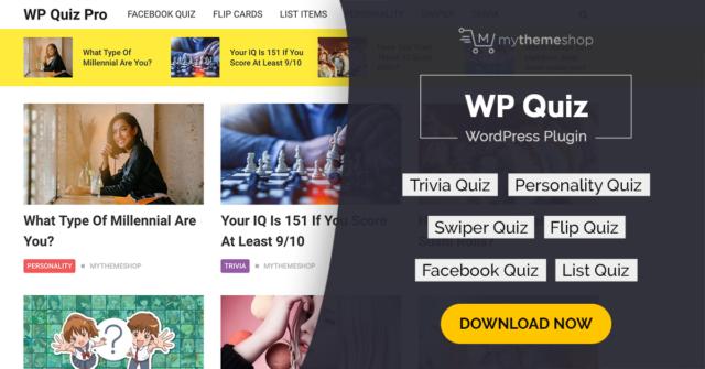 MyThemeShop WP Quiz Pro Wordpress Plugin Free Download
