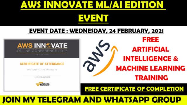 aws innovate series certificate
