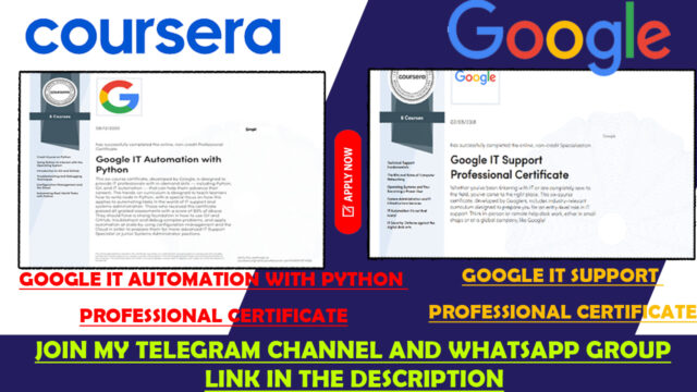 coursera google free courses