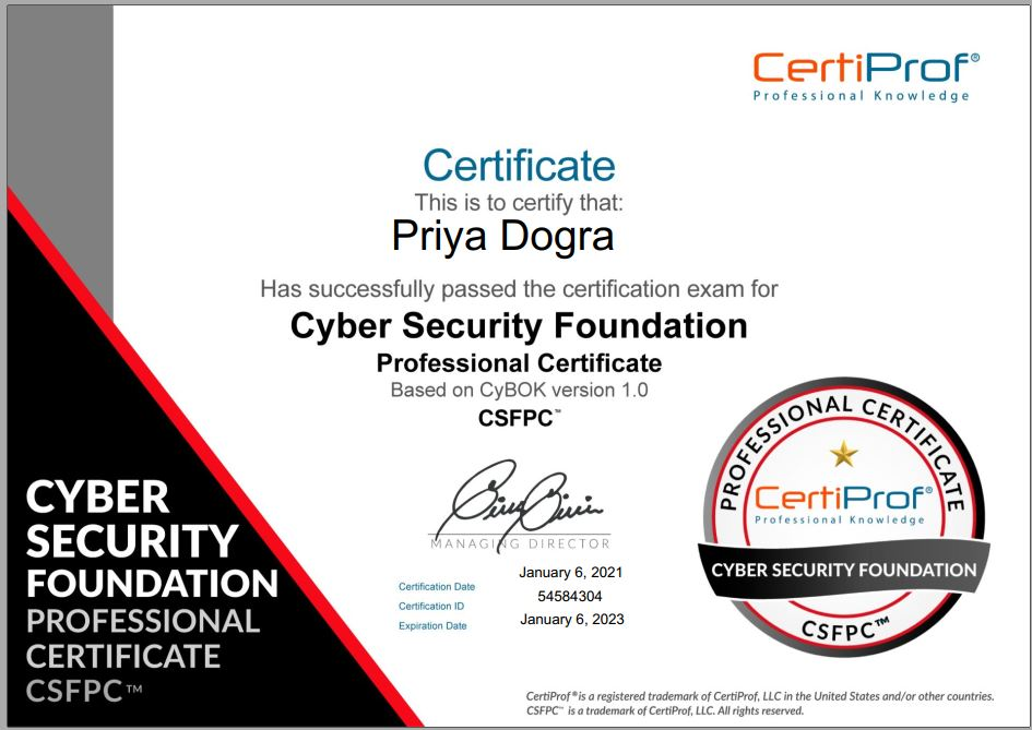 Certiprof Cyber Security Foundation Exam Answers Certiprof Csfpc Exam Answers