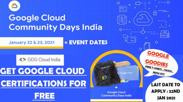 Google Cloud Community Days India event 2021