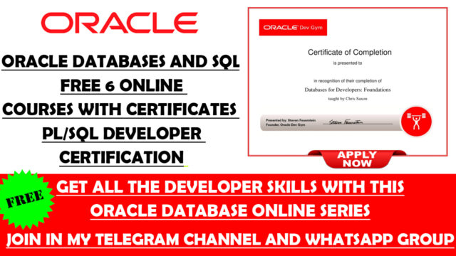 oracle free courses