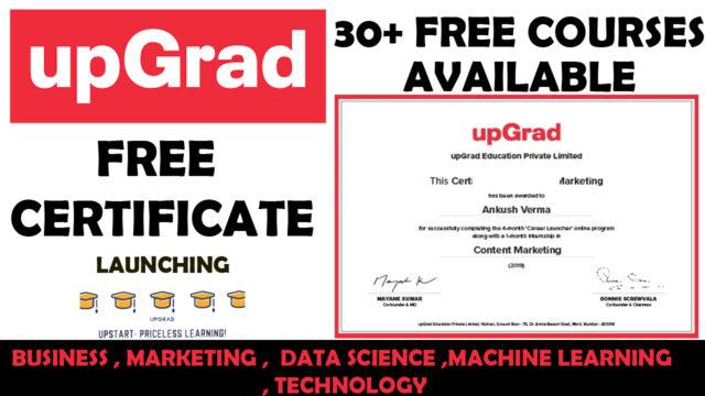 upgrad free courses