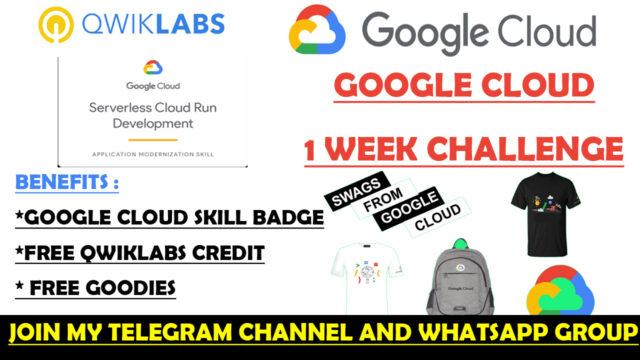 google 1 week challenge