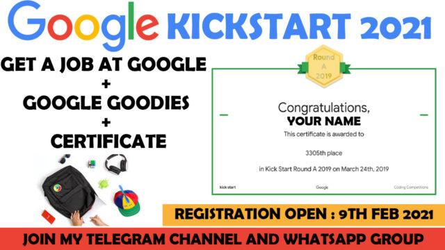 google kickstart 2021