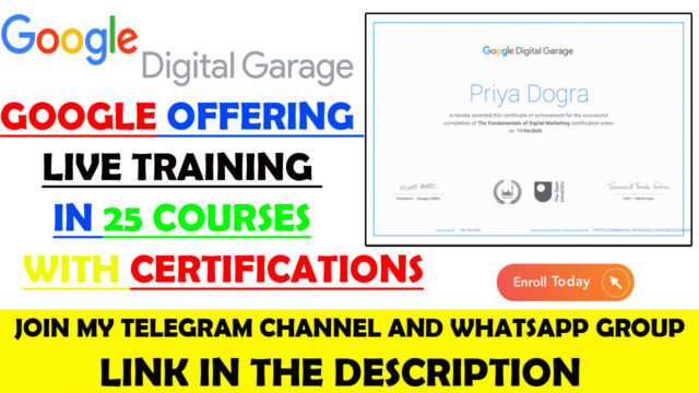 google free training courses