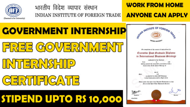 indian institute of foreign trade internship certificate
