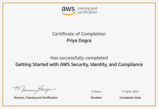 AWS free certificate