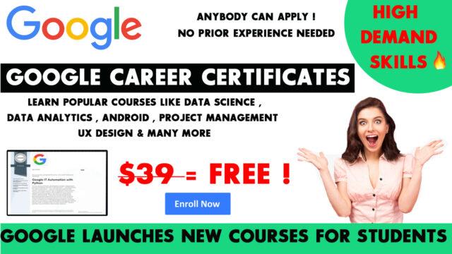 Google career certificate