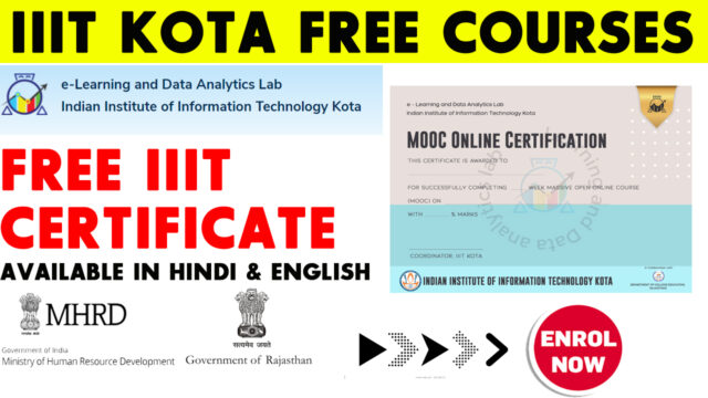 IIIt Kota free certificate and courses