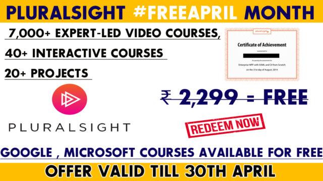 Pluralsight #freeapril