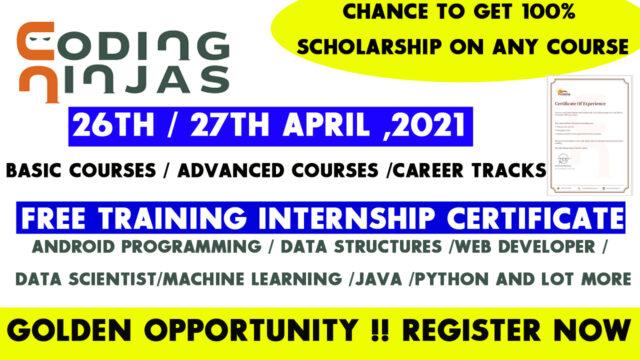 coding ninjas internship certificate