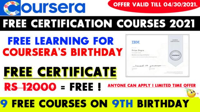 coursera birthday offer
