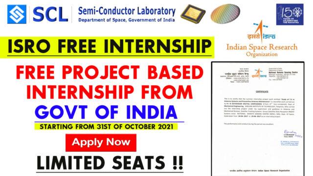 isro free internship