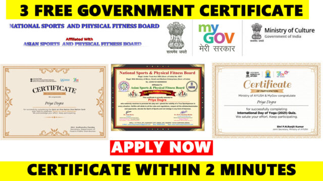 government certificates