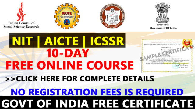 NIT free course
