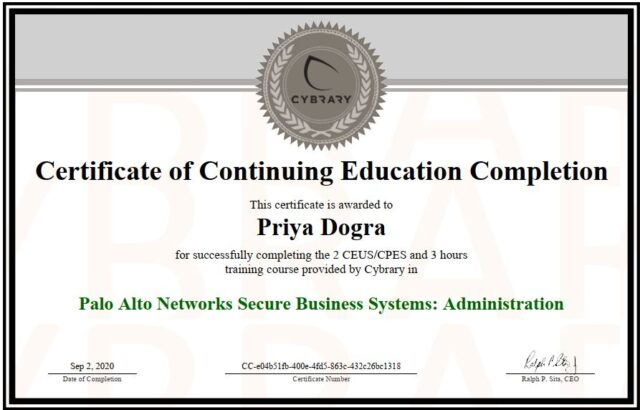 PAlo Alto Cybrary Free Course and Certificate