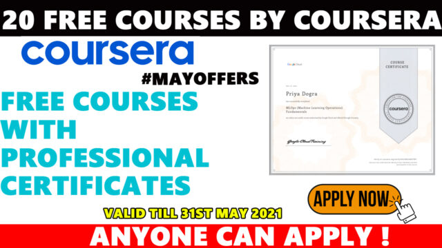 coursera free certificate