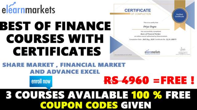 eleatnmarket free finance certificate
