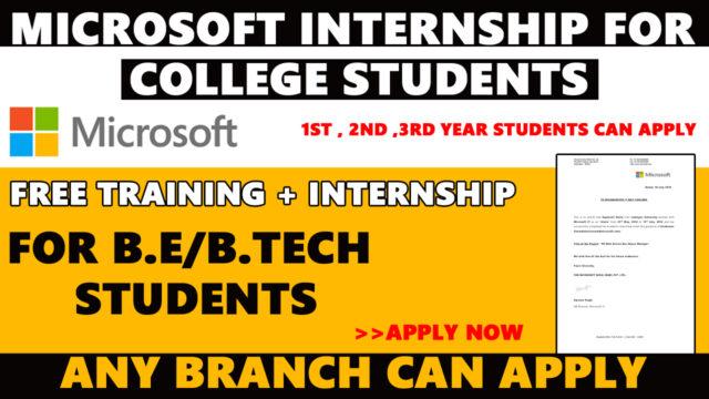 microsoft internship for college students