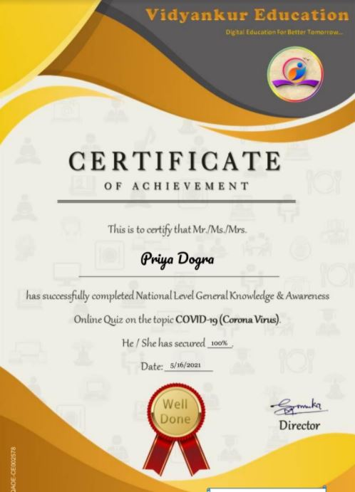 national certificate on general knowledge and awareness
