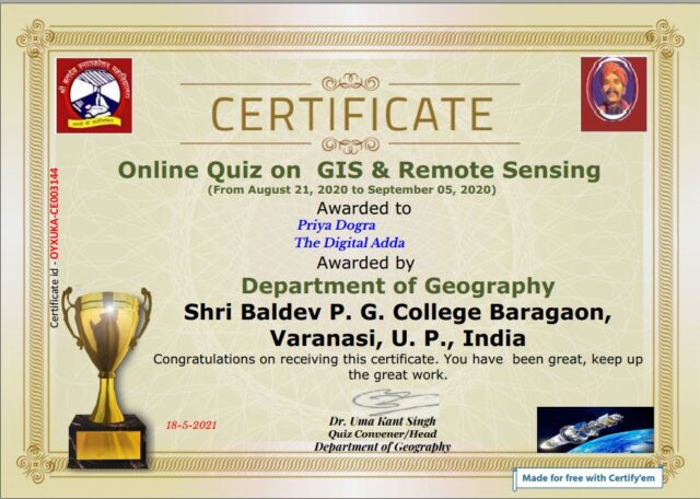 space technology certificate