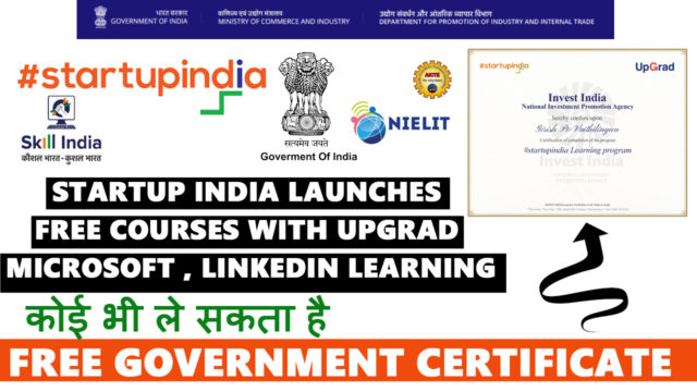 startup india courses with free certificate