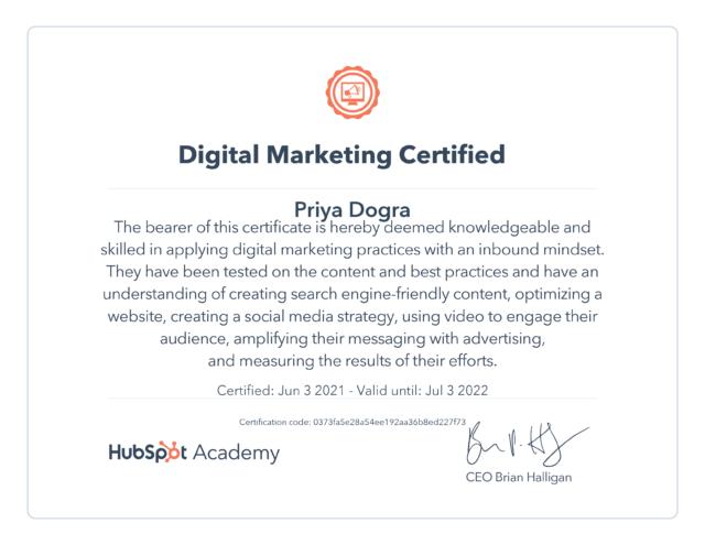 Hubspot Digital Marketing Exam Answers