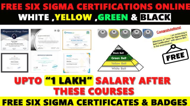 Free Six Sigma Certifications Online