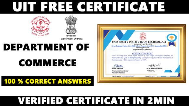 university of kerala free certificate