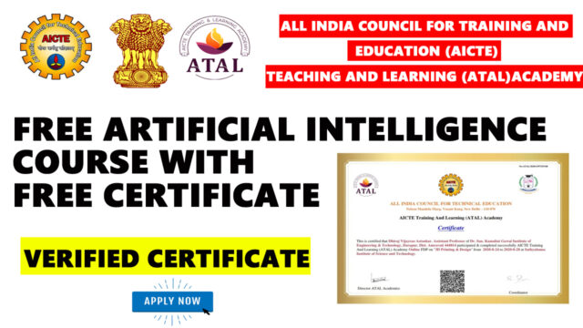 AICTE and ATAL Acdemy free certificate