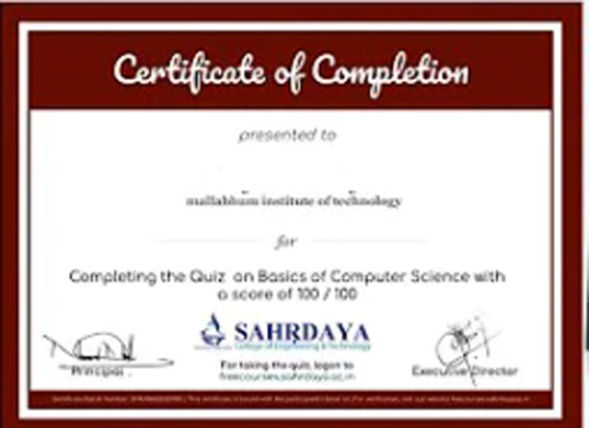 free computer certificate