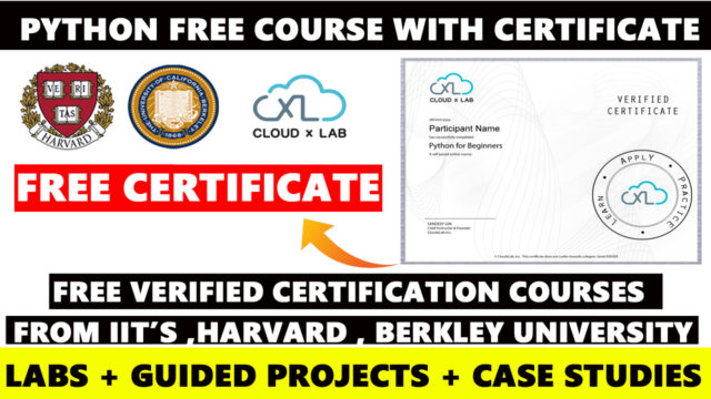 python free courses with certificate