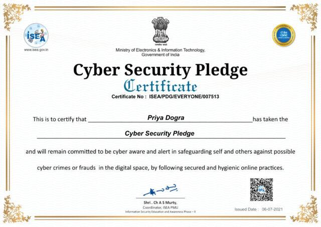 CDAC Free Cyber Security Certificate