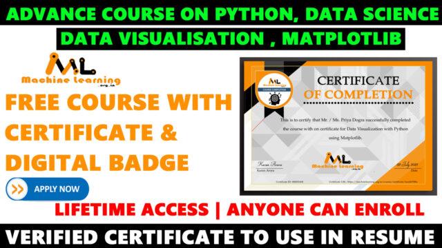 Data Visualization with Python using Matplotlib Free Course