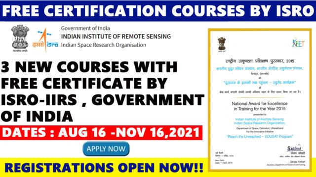 isro free certification courses