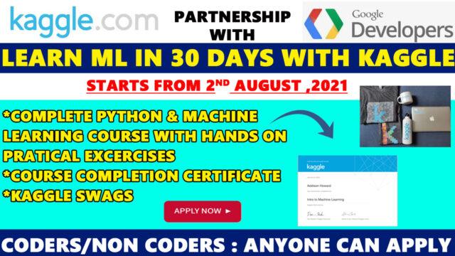 kaggle 30 days ml